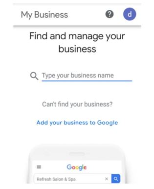 GMB, Google My Business listing