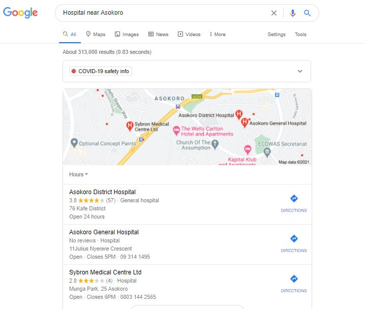 Google My Business Free Website, local 3 pack