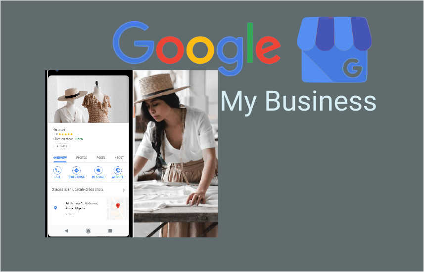 google my business free website