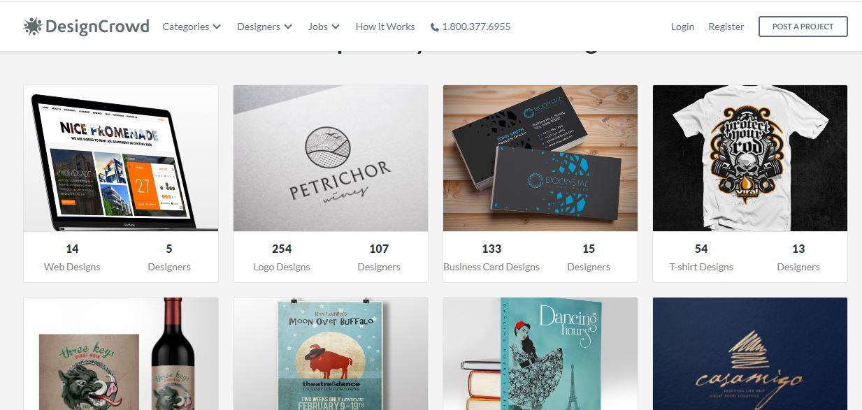 DesignCrowd, freelance website for graphic designers