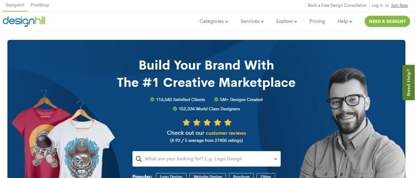 Designhill, freelance website for graphic designers, Alternatives to 99 Designs