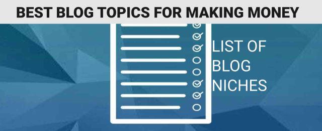 List of blog niches