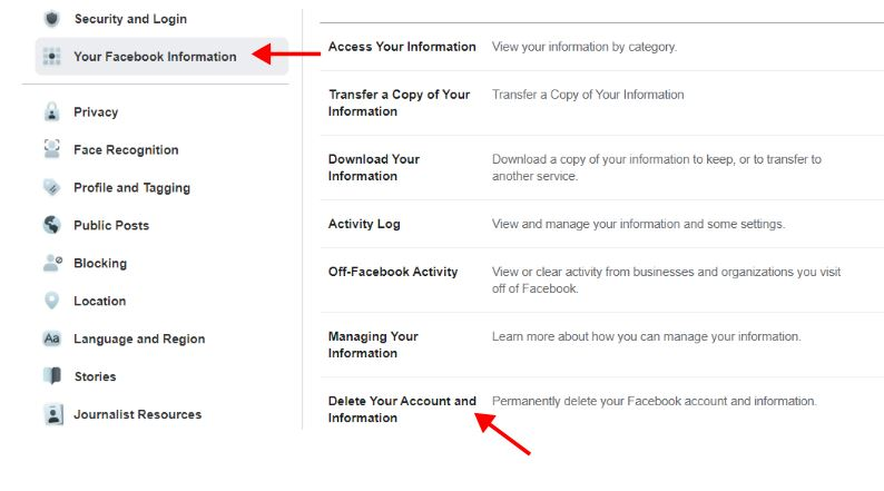 Facebook Account Delete, Permanently Delete Your Facebook Account