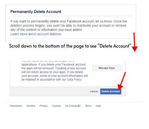 Facebook Account Deleting
