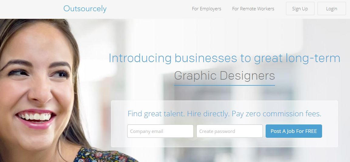 Outsourcely, freelance jobs online for beginners