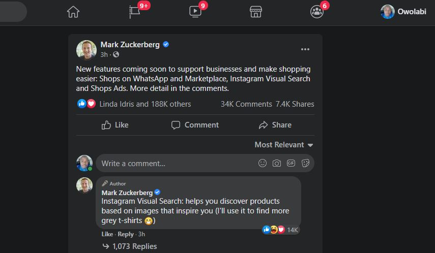 new features on Facebook, Instagram Image Search