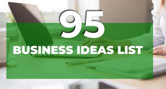 BUSINESS IDEAS LIST