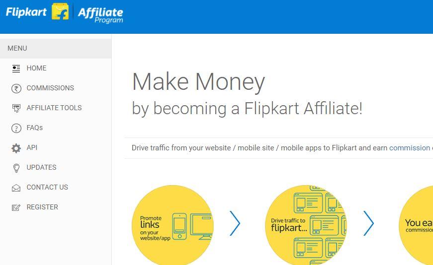 Flipkart Affiliate Registration