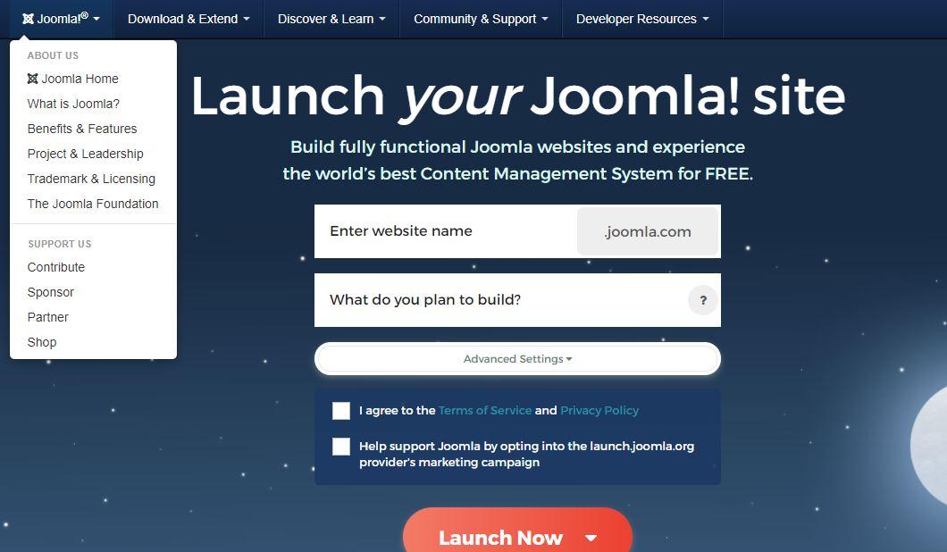 JOOMLA, best website builders for blogs