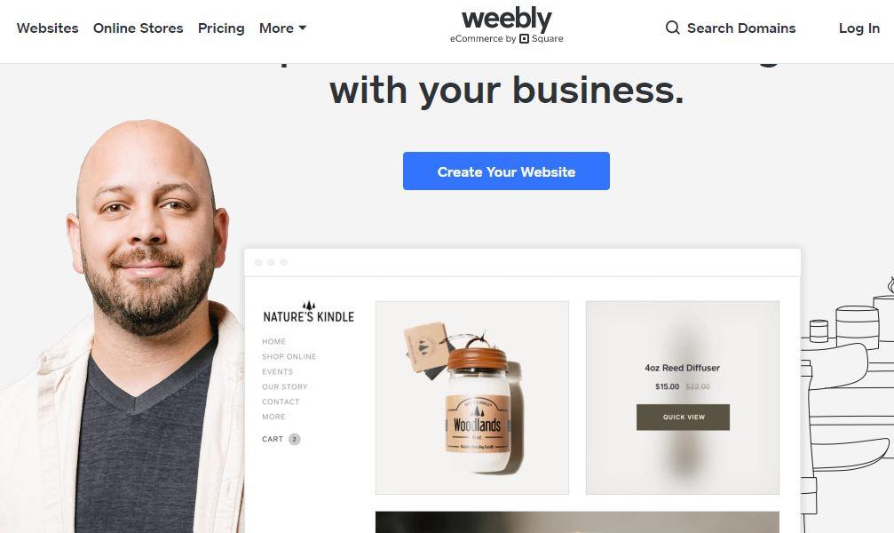 Weebly, best website builders for blogs