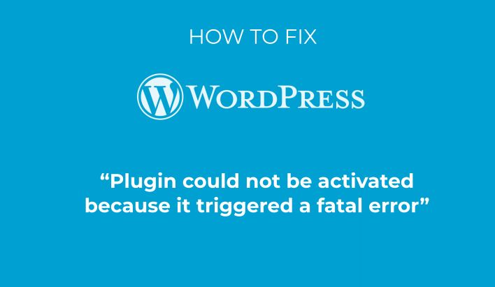 Plugin could not be activated because it triggered a fatal error
